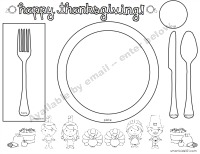 Free printable thanksgiving coloring placemat from //smartkids101.com  sc 1 st  Smart Kids 101 & What Every Kid Needs to Know about Thanksgiving Day Table Manners ...