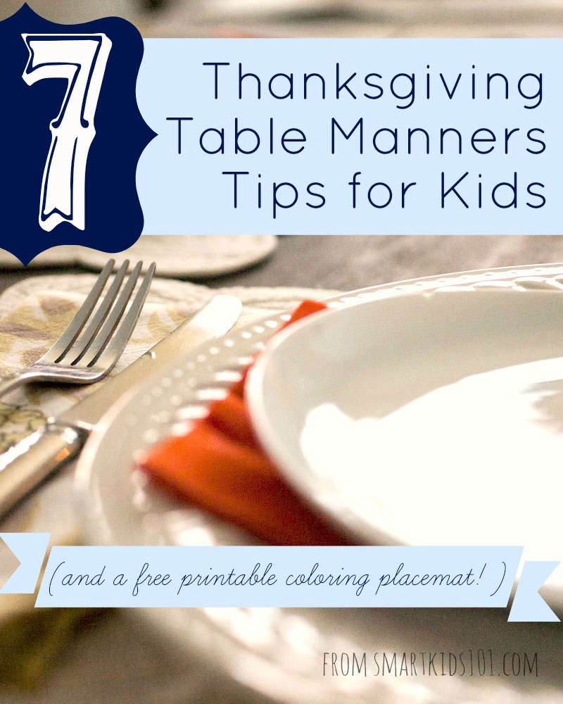What Every Kid Needs to Know about Thanksgiving Day Table Manners ...