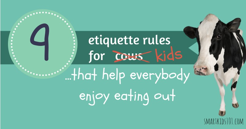 9 Etiquette Rules For Kids That Help Everybody Enjoy Eating Out From