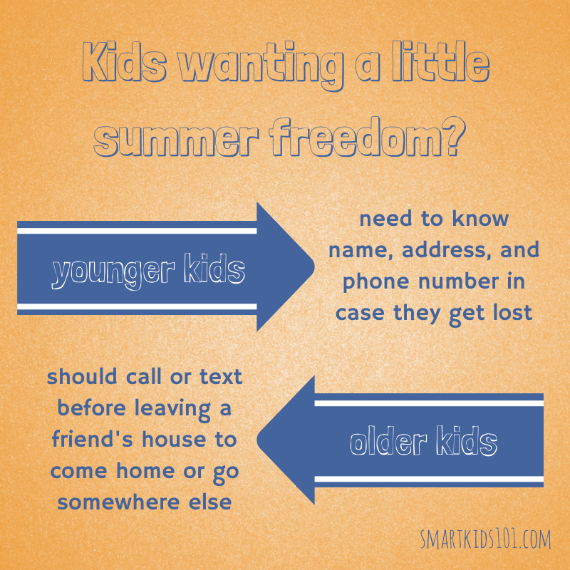 Kids want some freedom this summer? With great power comes great responsibility! Check out these tips from http://smartkdis101.com