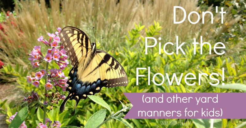Don T Pick The Flowers And Other Yard Manners For Kids Great Ideas