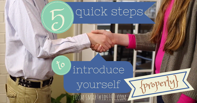 Learn the 5 Quick Steps to Introduce Yourself Properly (and teach your kids) #manners #kids #polite #meet
