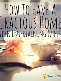 How to have a gracious home when entertaining guests. Lots of great tips at the link!
