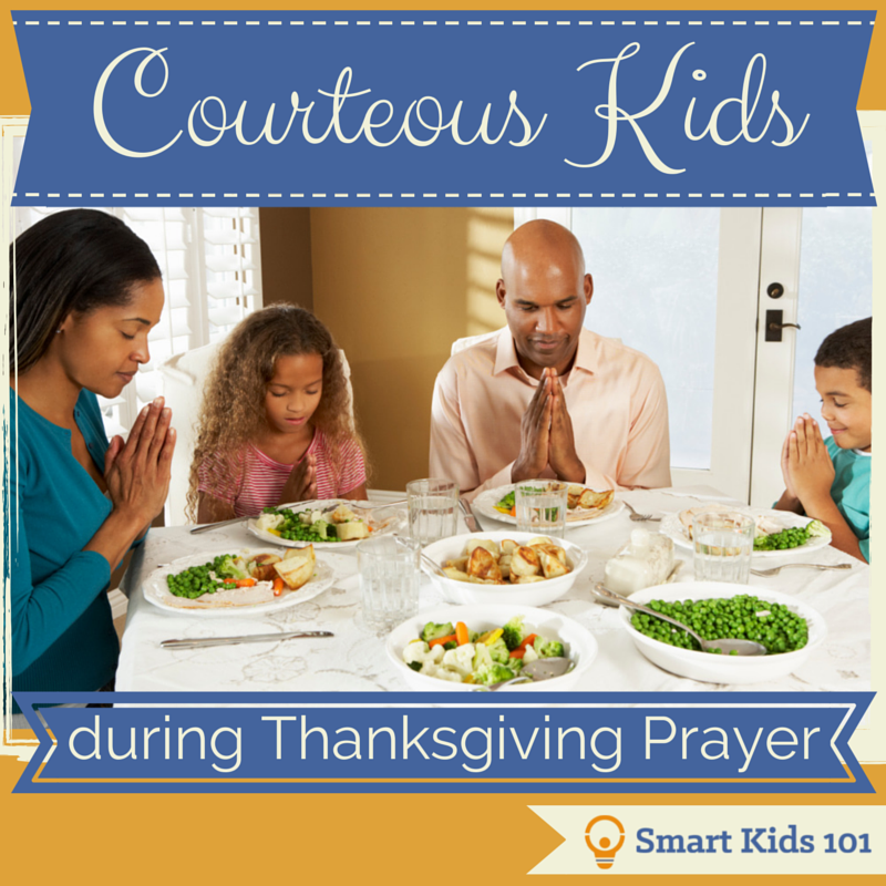 What do kids need to know about how to act during a prayer?