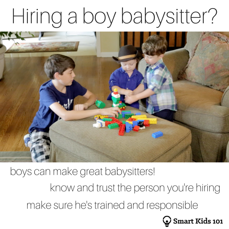 Can a Boy Be a Babysitter? Smart Kids 101