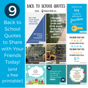 9 Back to School Quotes to Share with Your Friends Today (and a free printable!)