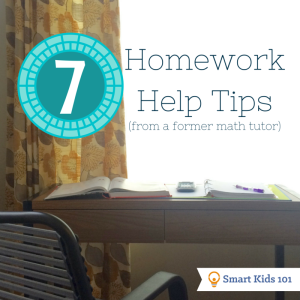 7 Homework Help Tips (from a former math tutor)