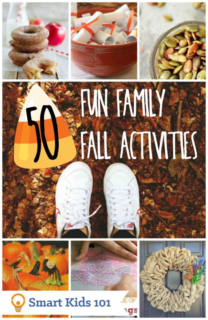 50 Fun Fall Activities for Families from smartkids101.com