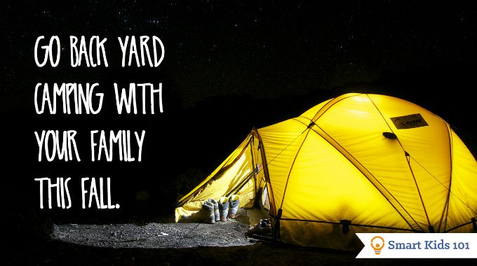 Go back yard camping with your family this fall