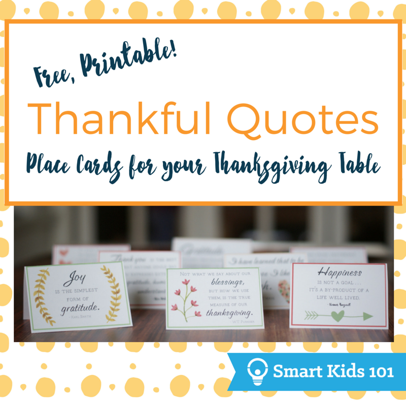 Thanksgiving Quotes Kids: Free, Printable Thankful Quotes For Your Thanksgiving